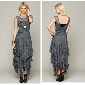 Free People Intimately French Courtship Gray Slip